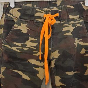 VIP women's Cargo green camouflage jogger pants